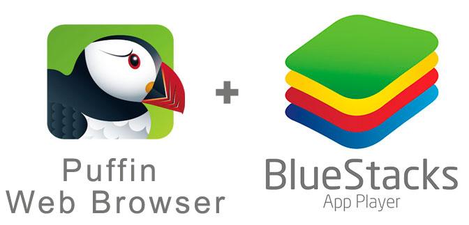 Устанавливаем Пуффин Браузер с помощью эмулятора BlueStacks.