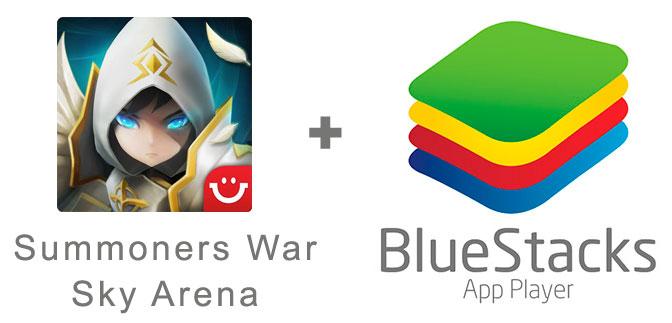Устанавливаем Суммонерс Вар с помощью эмулятора BlueStacks.