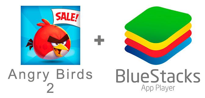 Устанавливаем Злых птичек 2 с помощью эмулятора BlueStacks.