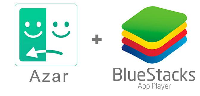 Устанавливаем Азар с помощью эмулятора BlueStacks.