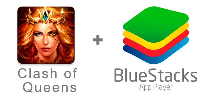 Устанавливаем Клэш оф Квинс с помощью эмулятора BlueStacks.