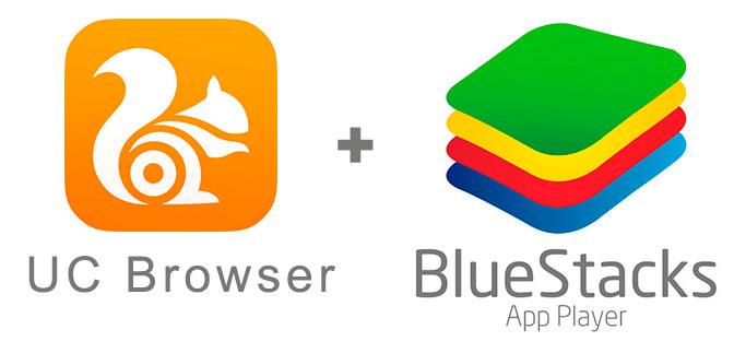 Устанавливаем УС Браузер с помощью эмулятора BlueStacks.