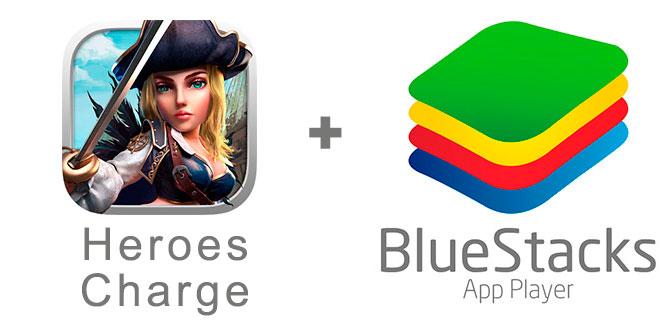 Устанавливаем Хероес Чардж с помощью эмулятора BlueStacks.