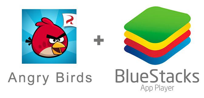Устанавливаем Angry Birds с помощью эмулятора BlueStacks.
