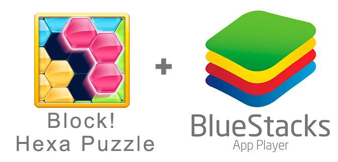 Устанавливаем Block Hexa Puzzle с помощью эмулятора BlueStacks.