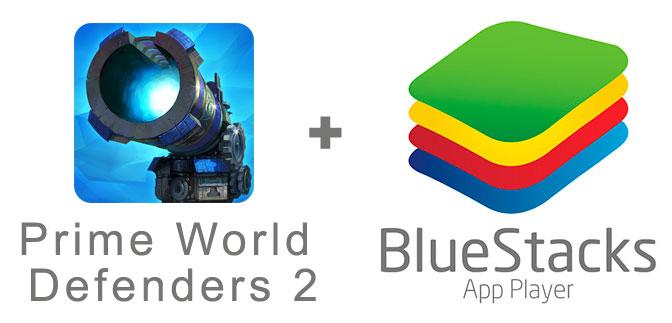 Устанавливаем Prime World Defenders 2 с помощью эмулятора BlueStacks.