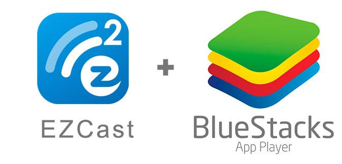 Устанавливаем EZCast с помощью эмулятора BlueStacks.