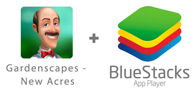 Устанавливаем Gardenscapes - New Acres с помощью эмулятора BlueStacks.