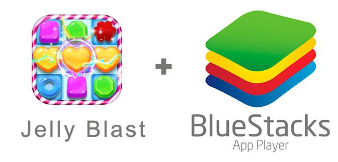 Устанавливаем Jelly Blast с помощью эмулятора BlueStacks.