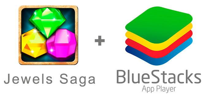Устанавливаем Джевелс Сага с помощью эмулятора BlueStacks.