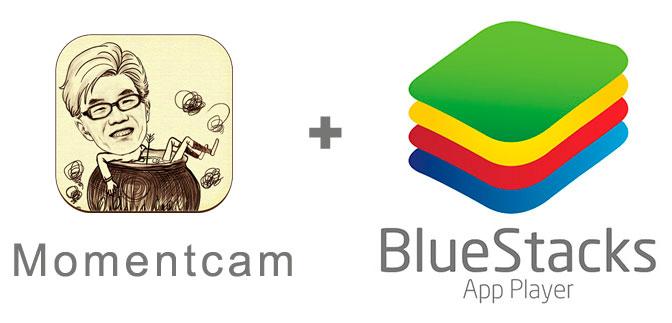Устанавливаем MomentCam с помощью эмулятора BlueStacks.