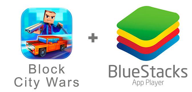 Устанавливаем Block City Wars с помощью эмулятора BlueStacks.