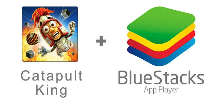 Устанавливаем Catapult King с помощью эмулятора BlueStacks.