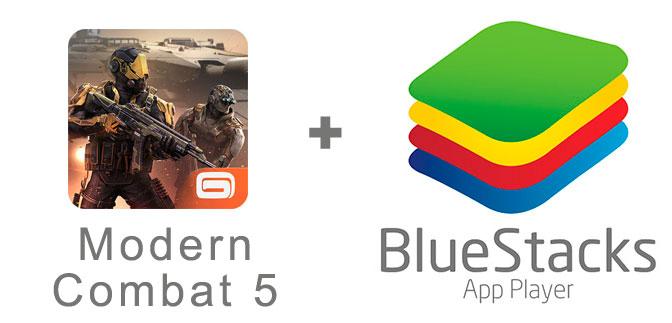 Устанавливаем Modern Combat 5 с помощью эмулятора BlueStacks.