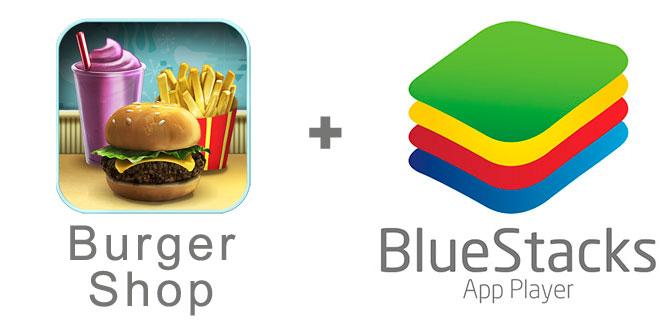 Устанавливаем Burger Shop с помощью эмулятора BlueStacks.