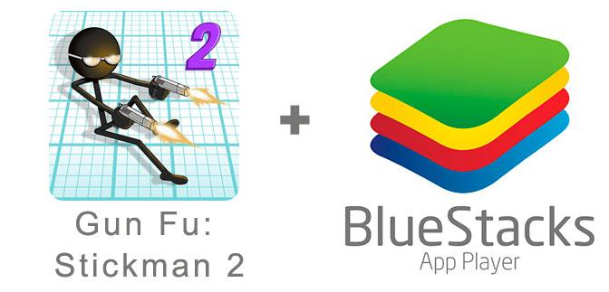 Устанавливаем Gun Fu: Stickman 2 с помощью эмулятора BlueStacks.