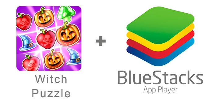 Устанавливаем Witch Puzzle с помощью эмулятора BlueStacks.