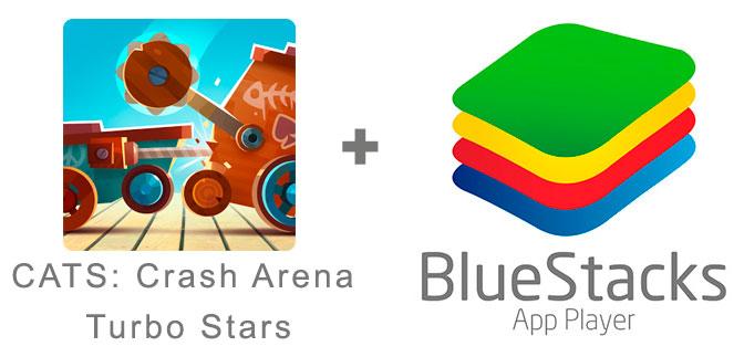 Устанавливаем CATS: Crash Arena Turbo Stars с помощью эмулятора BlueStacks.