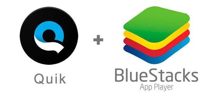 Устанавливаем Quik с помощью эмулятора BlueStacks.