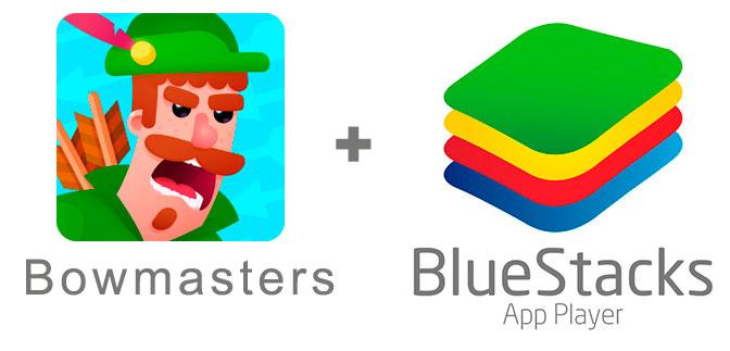Устанавливаем Bowmasters с помощью эмулятора BlueStacks.