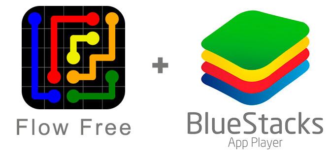 Устанавливаем Flow Free с помощью эмулятора BlueStacks.
