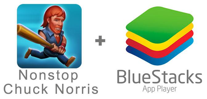 Устанавливаем Nonstop Chuck Norris с помощью эмулятора BlueStacks.