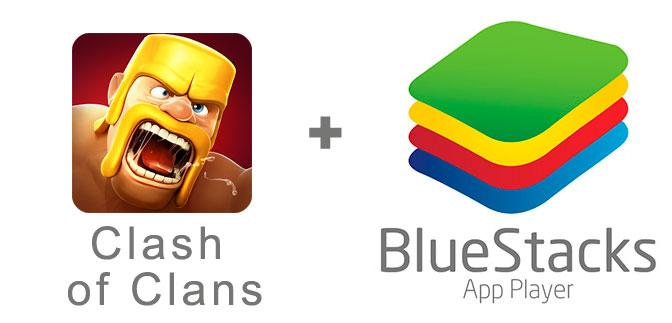 Устанавливаем Clash of Clans с помощью эмулятора BlueStacks.