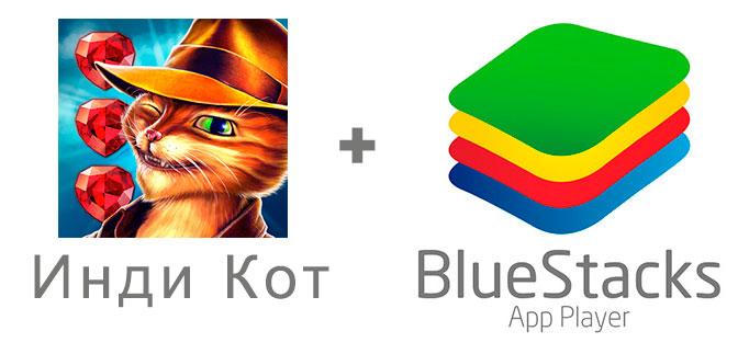 Устанавливаем Инди Кота с помощью эмулятора BlueStacks.