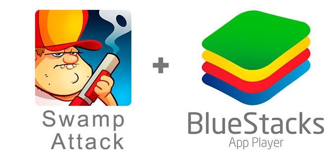 Устанавливаем Swamp Attack с помощью эмулятора BlueStacks.