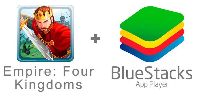 Устанавливаем Эмпайр Фор Кингдомс с помощью эмулятора BlueStacks.