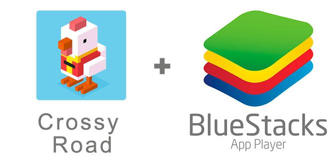Устанавливаем Crossy Road с помощью эмулятора BlueStacks.