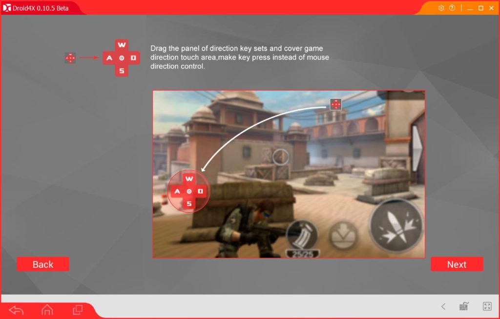Ознакомительное окно Droid4X - кнопки управления в играх