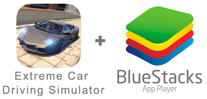 Устанавливаем Extreme Car Driving Simulator с помощью эмулятора BlueStacks.