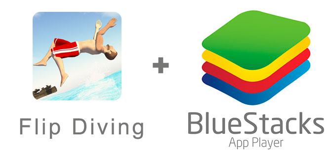 Устанавливаем Flip Diving с помощью эмулятора BlueStacks.
