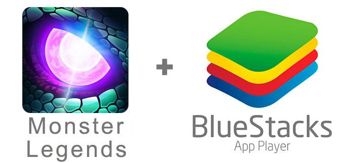 Устанавливаем Monster Legends с помощью эмулятора BlueStacks.