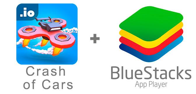 Устанавливаем Crash of Cars с помощью эмулятора BlueStacks.