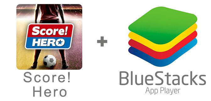 Устанавливаем Score! Hero с помощью эмулятора BlueStacks.