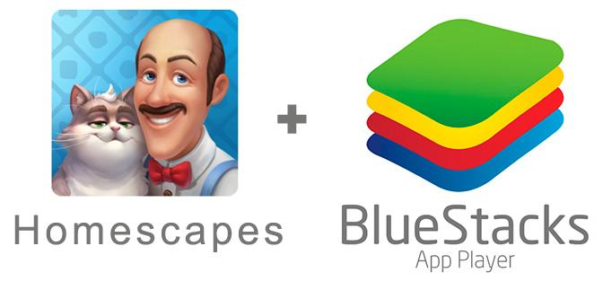 Устанавливаем HomeScapes с помощью эмулятора BlueStacks.